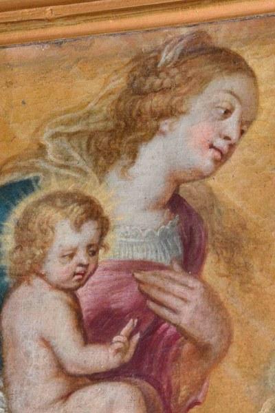 6987 Rendeux Détail d'une toile de St Charles Borromée et les pestiférés...
