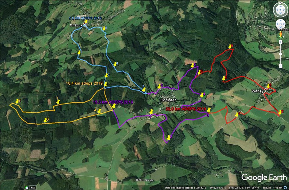 parcours adeps cheoux 2019