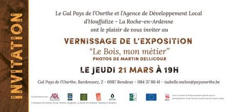 """Rendeux - Vernissage de l'expo """"Le Bois, mon métier"""""""