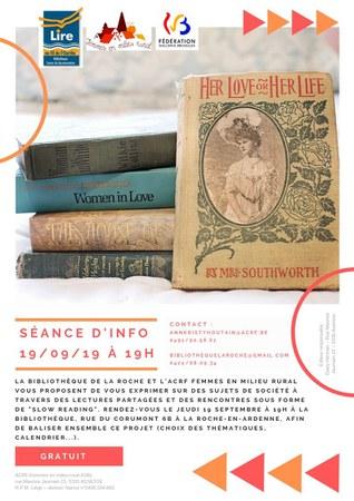 Slow reading et lectures partagées